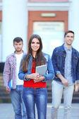 Students near university  — Zdjęcie stockowe