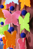 Handmade garland on color background — Foto Stock