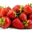 Red ripe strawberries, isolated on white — Stock Photo #47398309