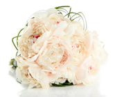 Beautiful wedding bouquet isolated on white — Stock Photo