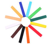 Colorful chalk pastels isolated on white — Stock Photo