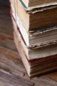Old books on table close-up — Stock Photo