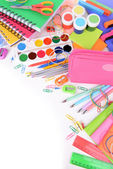 Bright school supplies close-up — Stock Photo