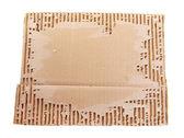 Cardboard isolated on white — Stockfoto