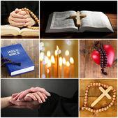 Religion collage — Stock Photo