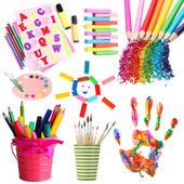 Collage of items for creativity — Stock Photo