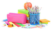 Bright school supplies — Stock Photo