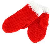 Red winter mittens — Stock Photo