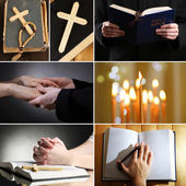 Religion collage — Stockfoto