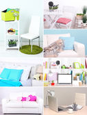Collage of interior design — Stock Photo