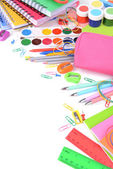 Bright school supplies close-up — ストック写真