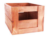 Brown crate isolated on white — Stock Photo