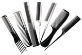 Professional combs isolated on white — Stock Photo