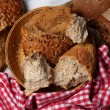 Breaking bread close up — Stock Photo