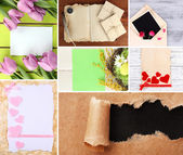 Collage of different kind of paper — Stock Photo
