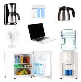 Set of household appliances isolated on white — Stock Photo