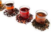 Assortment of tea isolated on white — Stock fotografie