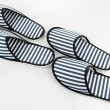 Striped slippers isolated on white — Stock Photo #47914709