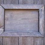Wooden door with window, close-up — Stock Photo