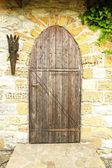 Wooden retro door  — Stock Photo