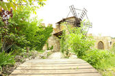 Old retro windmill, outdoors — Photo