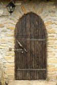 Двери деревянные ретро — Стоковое фото