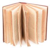 Vecchio libro isolato su bianco — Foto Stock