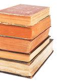 Vecchi libri isolati su bianco — Foto Stock