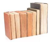Livres anciens isolés sur blanc — Photo