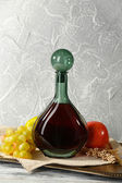 Beautiful still life with bottle of wine — 图库照片