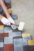 Tile paving — Stock Photo