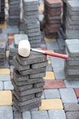 Tile paving — Foto Stock