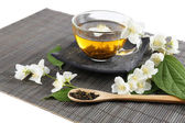 Jasmine tea on table — Stock Photo
