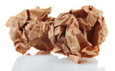 Crumpled paper balls isolated on white — Stock Photo