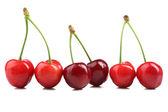 Sötkörsbär, isolerad på vit — Stockfoto