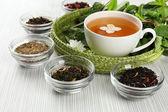 Assortment of tea on table  — Stock Photo