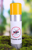 Mosquito spray on nature background — Stock Photo