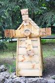 Decorative wooden mill — Stock Photo