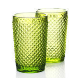 Colorful glasses isolated on white — Stock Photo