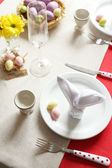 Beautiful holiday Easter table setting  — Stockfoto