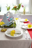 Beautiful holiday Easter table setting  — Foto de Stock