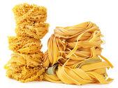 Raw homemade pasta, isolated on white — Foto de Stock