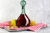 Beautiful still life with bottle of wine — Stock fotografie