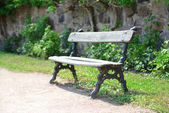 Wooden bench at park — Stock Photo