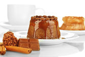 Yummy chocolate cake close-up — 图库照片
