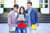 Students near university  — Stock Photo