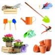 Collage of gardening tools — Stock Photo #48364593