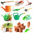 Collage of gardening tools — Stock Photo #48364607