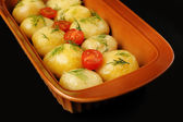Young boiled potatoes, close up  — Stock Photo