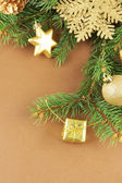 Christmas decorations on fir tree — Stockfoto